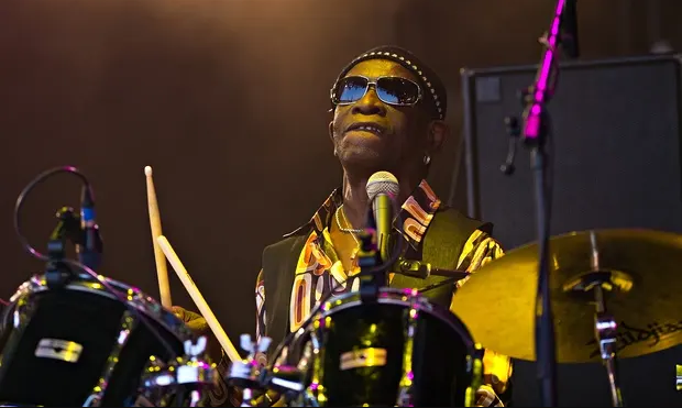 Great drummer Tony Allen died in Paris on Thursday, April 30, 2020 (Leon Neal/AFP/Getty Images)