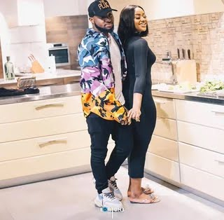 Davido and Chioma all loved up before the rumours about their relationship [Instagram/DavidoOfficial]