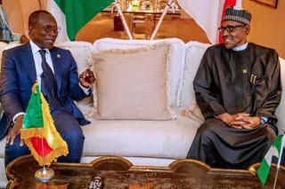 President Muhammadu Buhari (Right) and President Patrice Talon of Benin Republic [Twitter/@GovNigeeria]